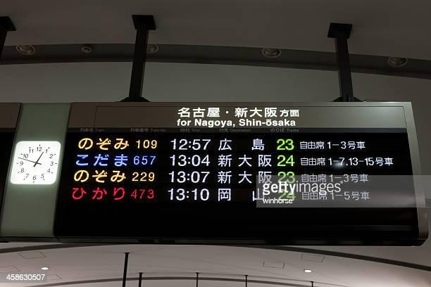 Shinkansen Arrival and Departure Board