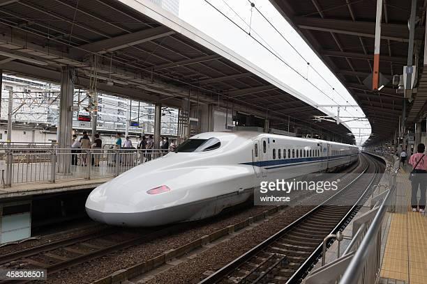 shinkansen n700 series in japan - nagoya stock pictures, royalty-free photos & images