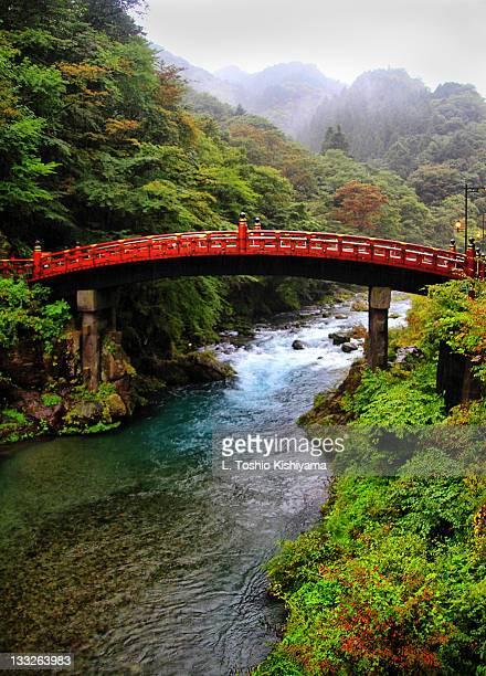 shinkyo at nikko japan - nikko city stock pictures, royalty-free photos & images