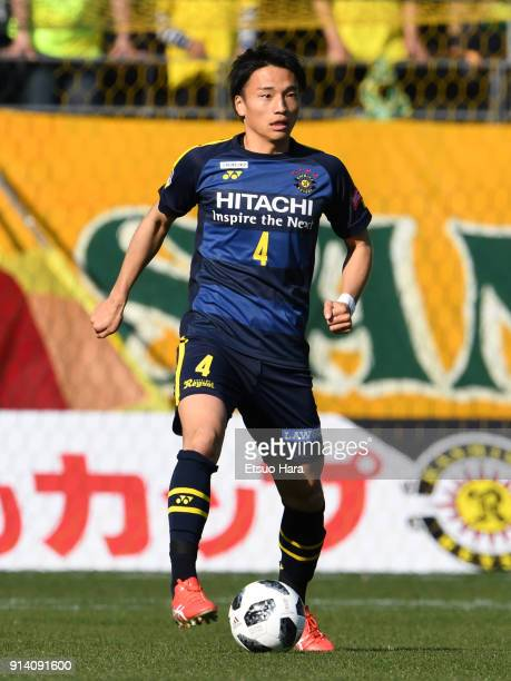 Shinnosuke Nakatani of Kashiwa Reysol in action during the preseason friendly match between JEF United Chiba and Kashiwa Reysol at Fukuda Denshi...