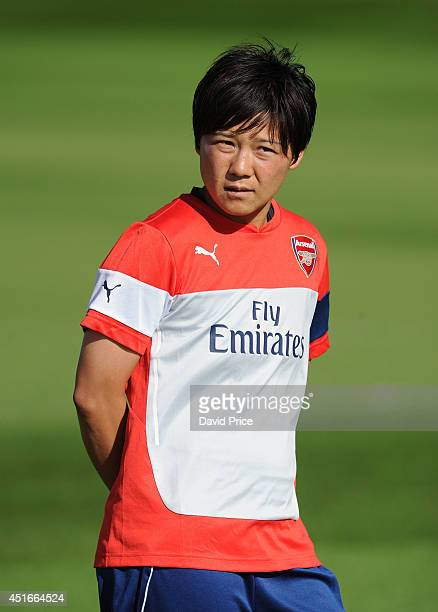 Shinobu Onho of Arsenal Ladies during their training session at London Colney on July 3 2014 in St Albans England