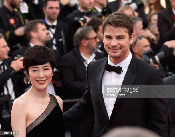 Shinobu Terajima and Josh Hartnett attends the 'The Killing Of A Sacred Deer' screening during the 70th annual Cannes Film Festival at Palais des...