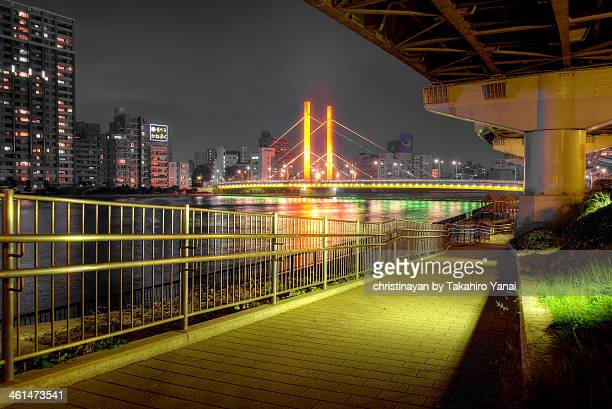 shin-ohashi bridge - christinayan ストックフォトと画像