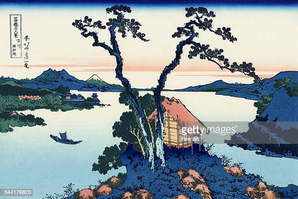 Shinshu Suwako A print from the series ThirtySix Views of Mount Fuji Private collection