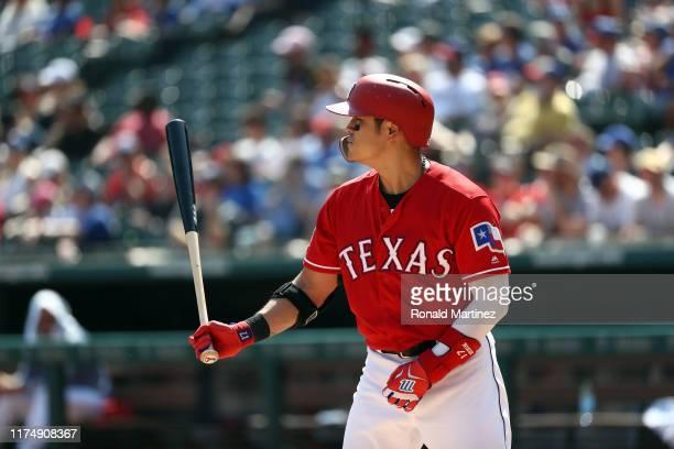 ShinSoo Choo of the Texas Rangers at Globe Life Park in Arlington on September 15 2019 in Arlington Texas