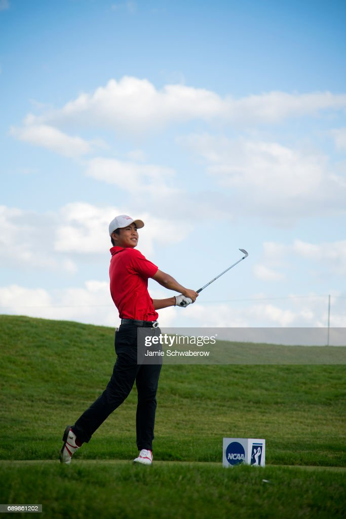 Shintaro Ban of UNLV tees off during the Division I Men's Golf Individual Championship held at Rich Harvest Farms on May 29, 2017 in Sugar Grove, Illinois.