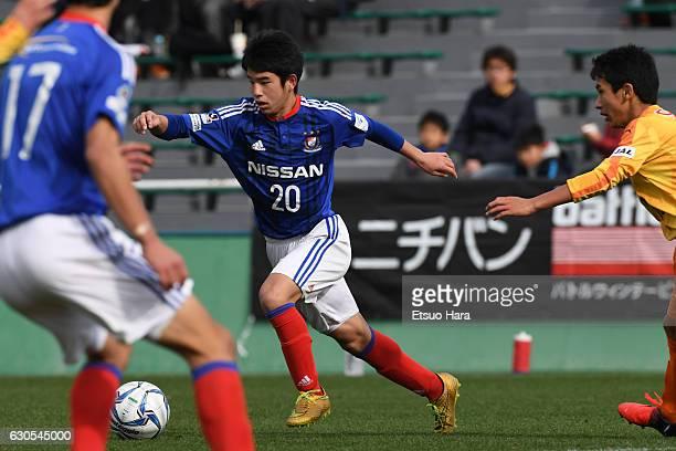Shintaro Ide of Yokohama F.Marinos Junior Youth Oppama in action during the Prince Takamado Trophy All Japan Youth Football Tournament semi final...