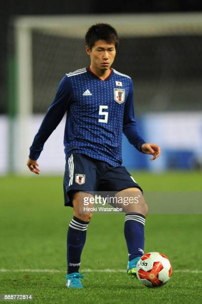 Shintaro Kurumaya of Japan in action during the EAFF E1 Men's Football Championship between Japan and North Korea at Ajinomoto Stadium on December 9...