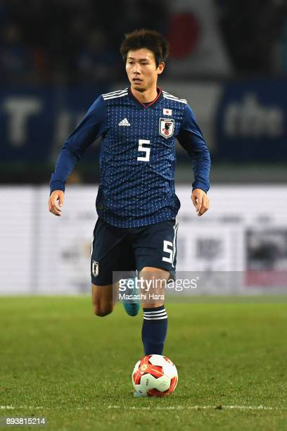 Shintaro Kurumaya of Japan in action during the EAFF E1 Men's Football Championship between Japan and South Korea at Ajinomoto Stadium on December 16...