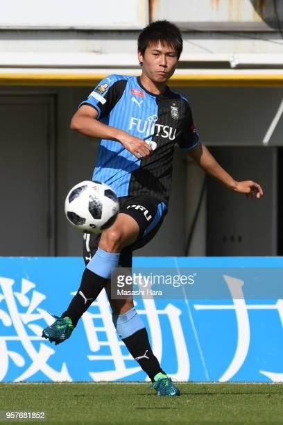 Shintaro Kurumaya of Kawasaki Frontale in action during the JLeague J1 match between Kashiwa Reysol and Kawasaki Frontale at Sankyo Frontier Kashiwa...