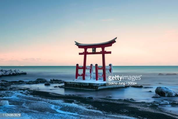 shinto in hokkaido - la manga stock pictures, royalty-free photos & images