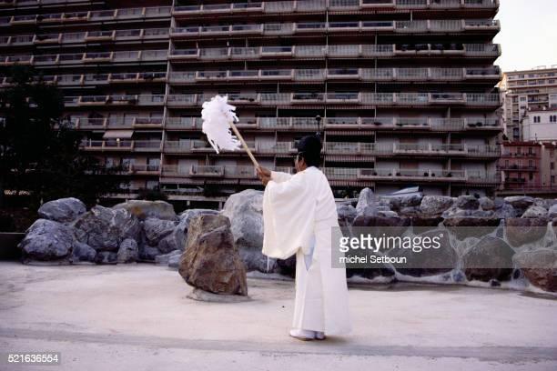 Shinto Monks at New Zen Garden