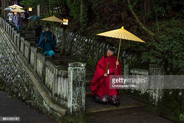 Shinto priests  begin Grand Purification ceremony