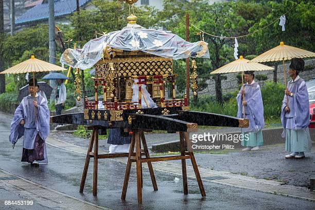 Shinto's Mikoshi during village summer festival