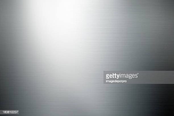 shiny brushed metal background - silver metal stock pictures, royalty-free photos & images