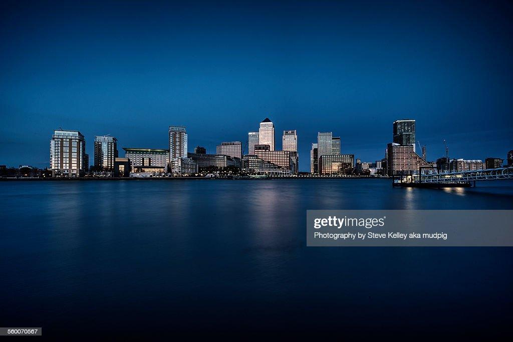 Shiny City on the Thames : Stock Photo
