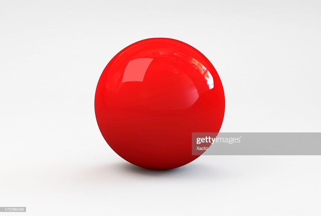 Rosso palla : Foto stock