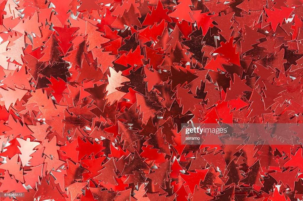 shiny red sequins background : Stock Photo