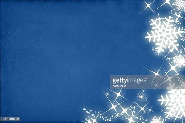 Shiny snowflakes border