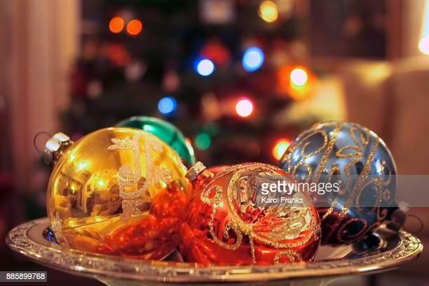 shiny vintage christmas ornaments