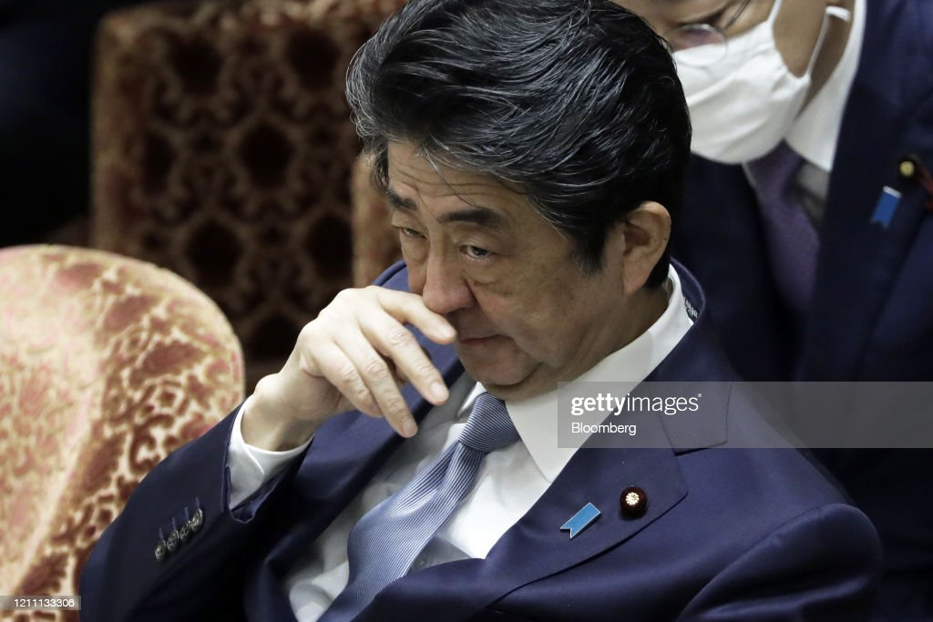 Prime Minister Shinzo Abe Speaks In Parliament : ニュース写真