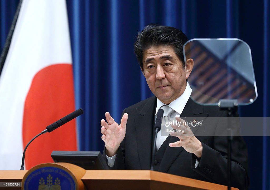 Japanese Prime Minister Shinzo Abe Unveils New Cabinet : News Photo