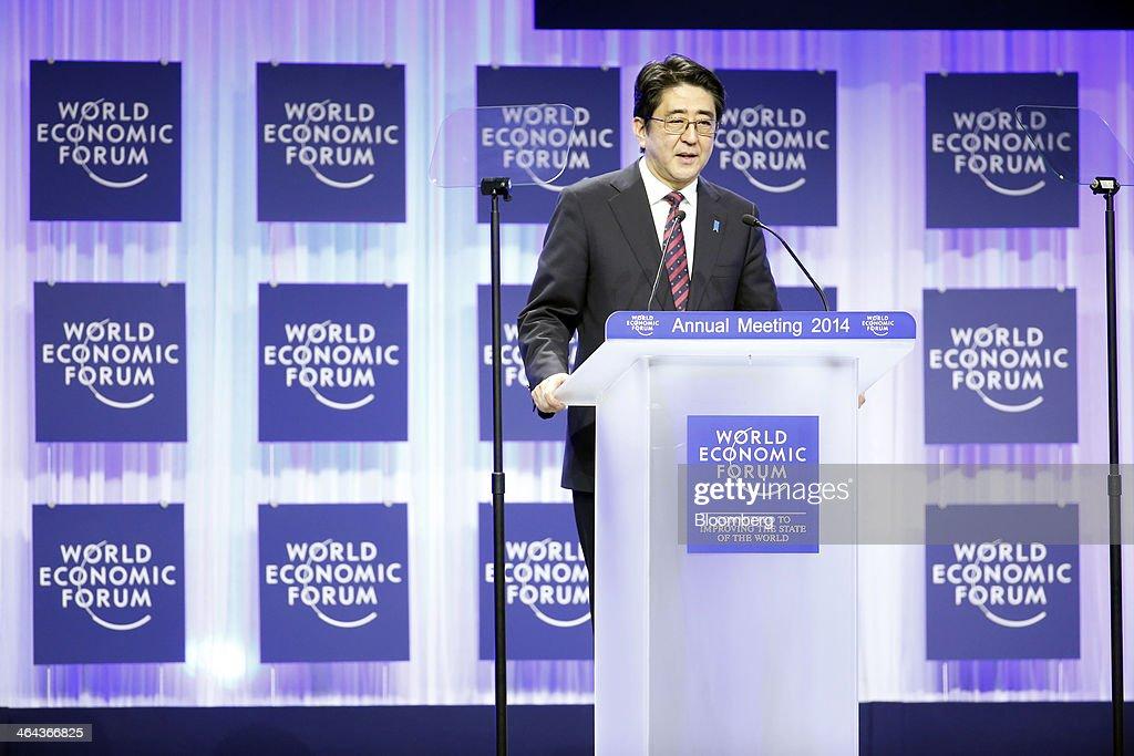 The Davos World Economic Forum 2014 : News Photo
