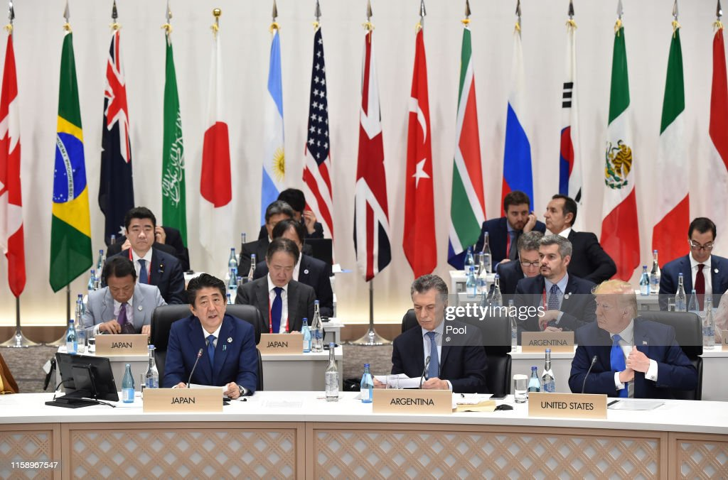 Osaka Hosts The G20 Summit - Day Two : News Photo
