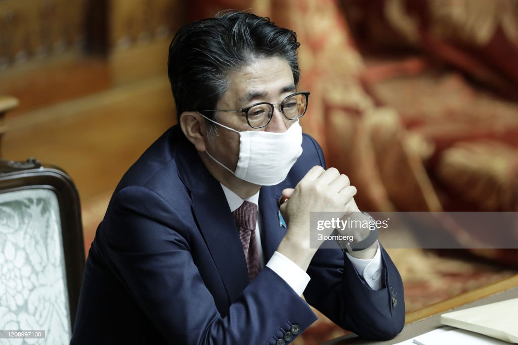 Prime Minister Shinzo Abe Attends Diet As Japan Worries Country on Brink of the Brink of Virus Surge : News Photo