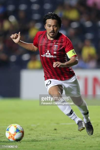 Shinzo Koroki of Urawa Red Diamonds in action during the AFC Champions League Group G match between Buriram United and Urawa Red Diamonds at Buriram...