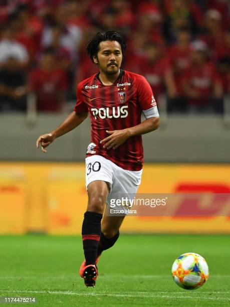 Shinzo Koroki of Urawa Red Diamonds in action during the J.League J1 match between Urawa Red Diamonds and Cerezo Osaka at Saitama Stadium on...