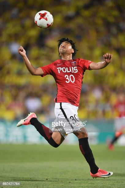 Shinzo Koroki of Urawa Red Diamonds in action during the JLeague J1 match between Kashiwa Reysol and Urawa Red Diamonds at Hitachi Kashiwa Soccer...