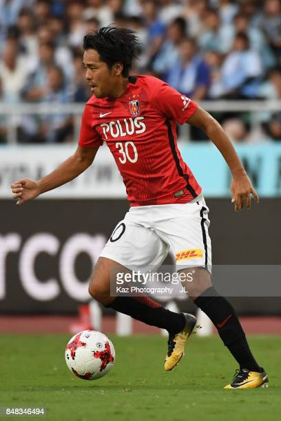 Shinzo Koroki of Urawa Red Diamonds in action during the JLeague J1 match between Jubilo Iwata and Urawa Red Diamonds at Shizuoka Stadium Ecopa on...