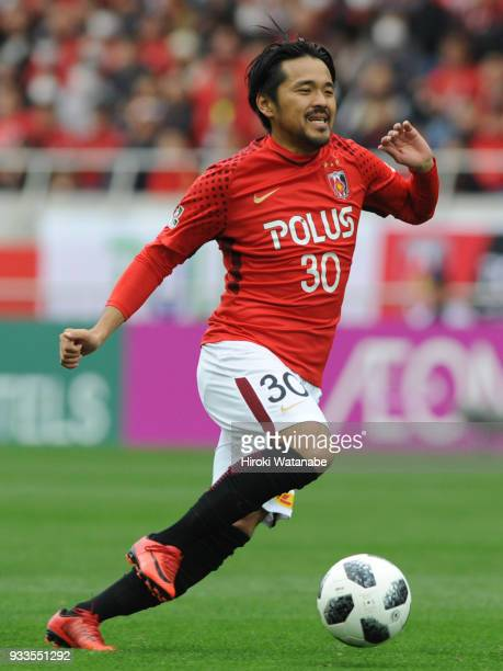 Shinzo Koroki of Urawa Red Diamonds in action during the JLeague J1 match between Urawa Red Diamonds and Yokohama FMarinos at Saitama Stadium on...