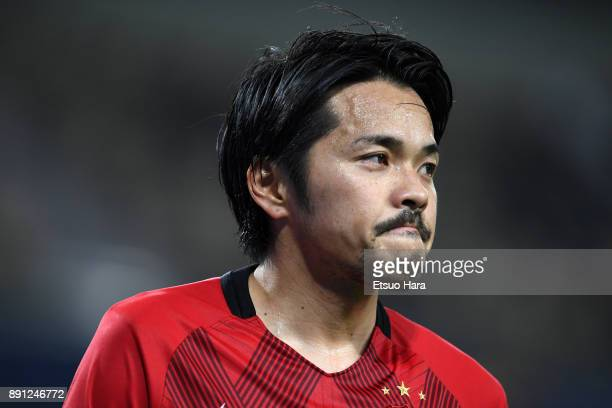 Shinzo Koroki of Urawa Red Diamonds looks on during the FIFA Club World Cup UAE 2017 Match for 5th Place between Wydad Casablanca and Urawa Reds at...