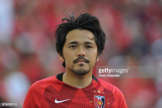 Shinzo Koroki of Urawa Red Diamonds looks on during the JLeague J1 match between Urawa Red Diamonds and Kashima Antlers at Saitama Stadium on May 4...