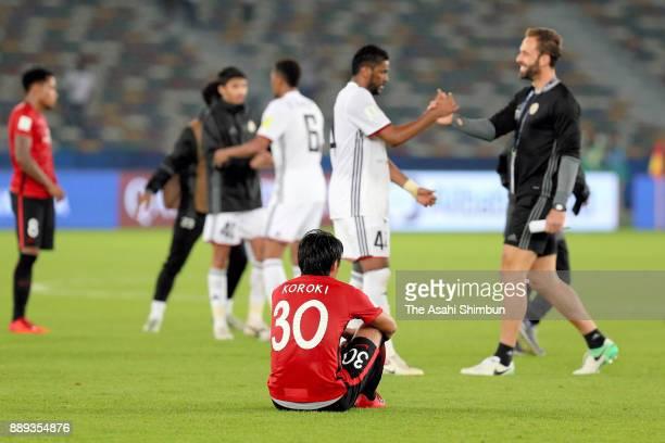 Shinzo Koroki of Urawa Red Diamonds shows dejection after his side's 01 defeat in the FIFA Club World Cup match between Al Jazira and Urawa Red...