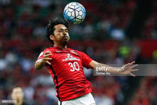 Shinzo Koroki of Urawa Reds Diamonds controls the ball during the AFC Champions League Round of 16 match between Urawa Red Diamonds and Jeju United...