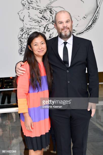 Shio Kusaka and Jonas Wood at the Hammer Museum 15th Annual Gala in the Garden with Generous Support from Bottega Veneta on October 14 2017 in Los...