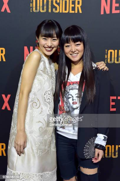 Shiori Kutsuna and Sumire attend a special screening of Netflix's 'The Outsider' on March 7 2018 in Los Angeles California