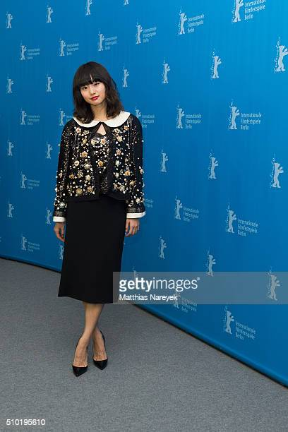 Shiori Kutsuna attends the 'While the Women Are Sleeping' photo call during the 66th Berlinale International Film Festival Berlin at Grand Hyatt...