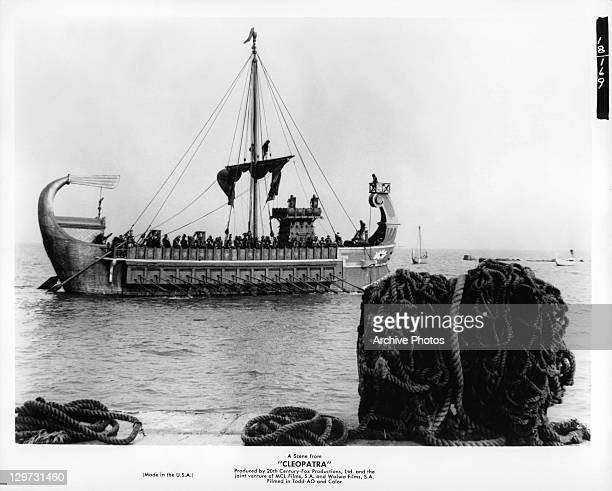 Ship at sea in a scene from the film 'Cleopatra' 1963