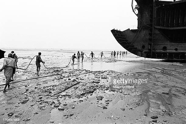 Ship breaking area in Shitakundo, Chittagong, Bangladesh.