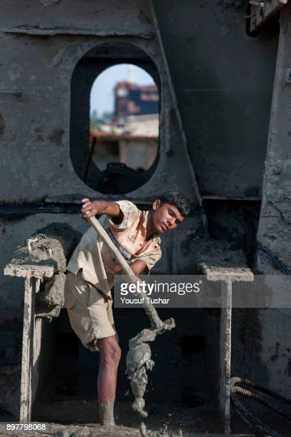 SITAKUNDO CHITTAGONG BANGLADESH Ship breaking laborer working at Sitakundo ship breaking yard The ship breaking industry at Sitakundo started its...