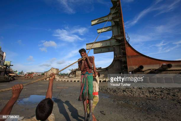 Ship breaking laborers working at Sitakundo ship breaking yard. The ship breaking industry at Sitakundo started its operation in 1960.Due to lower...