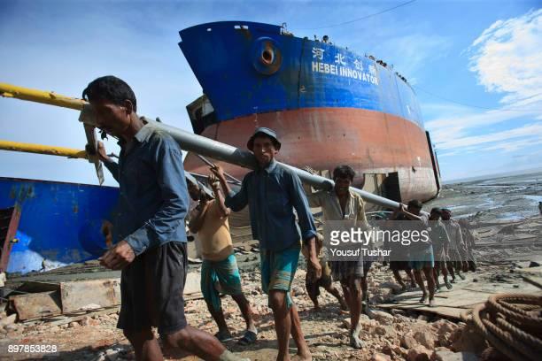 SITAKUNDO CHITTAGONG BANGLADESH Ship breaking laborers working at Sitakundo ship breaking yard The ship breaking industry at Sitakundo started its...