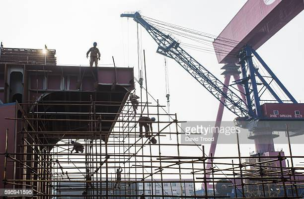 Ship building yard in China