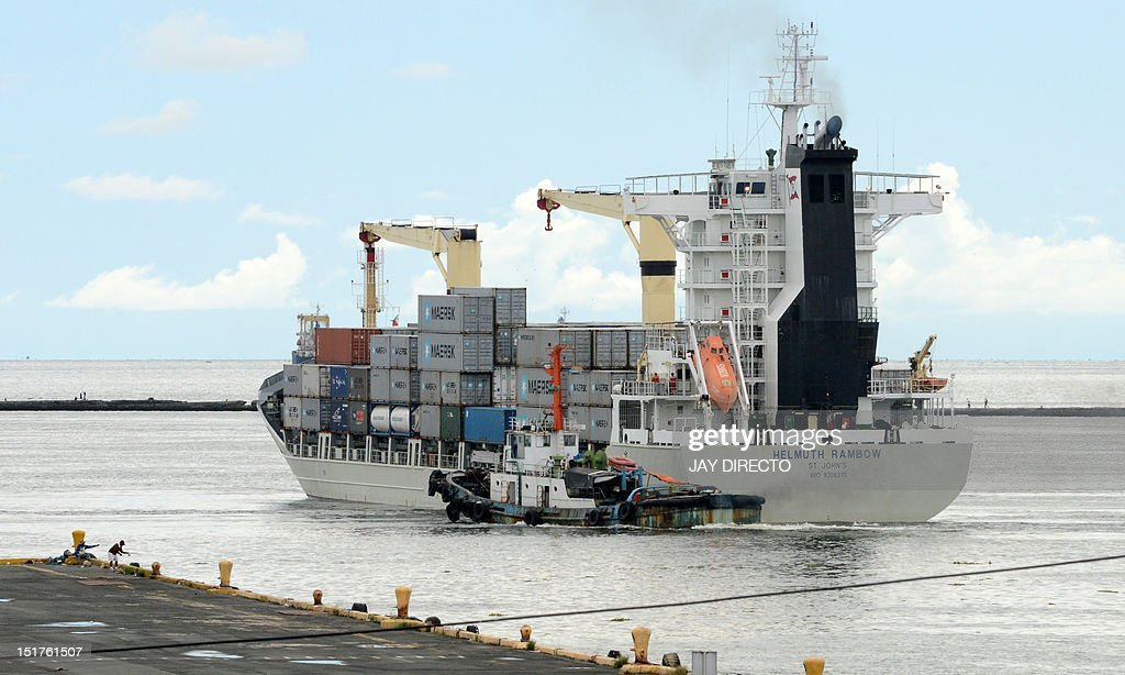 A ship carrying containers of Philippine products for export