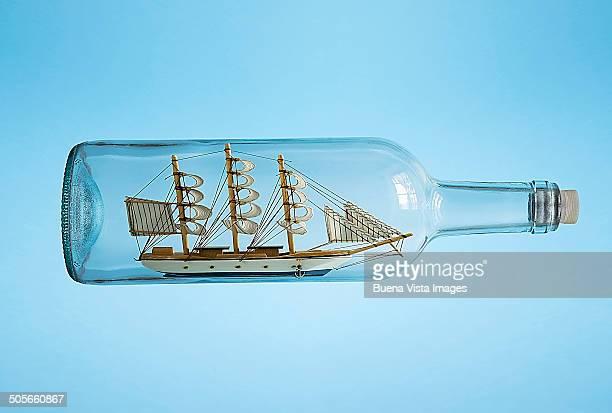 A ship in a bottle.
