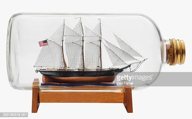 Ship in bottle, side view